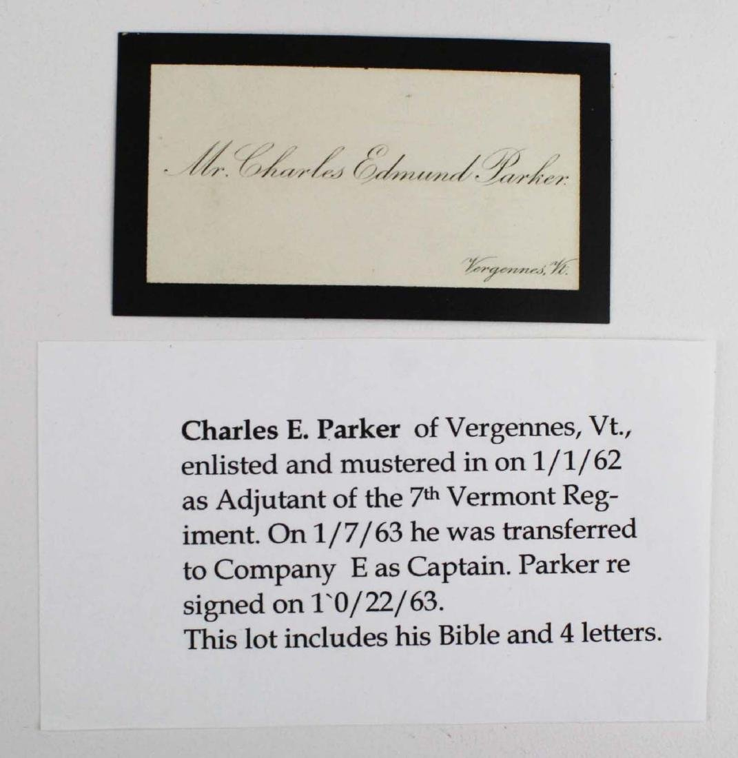 Lot of letters to Charles E Parker of Vergennes with - 10