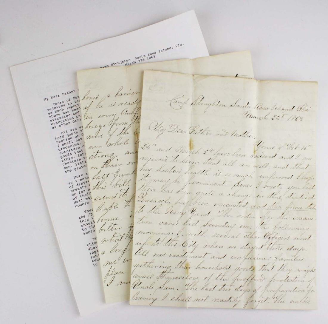 Lot of letters to Charles E Parker of Vergennes with - 2