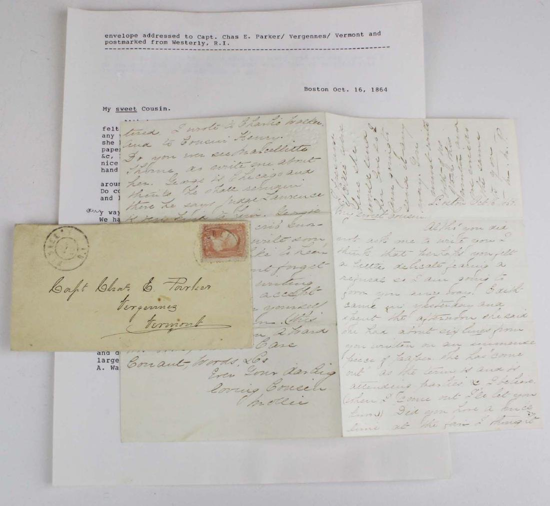 Lot of letters to Charles E Parker of Vergennes with - 8