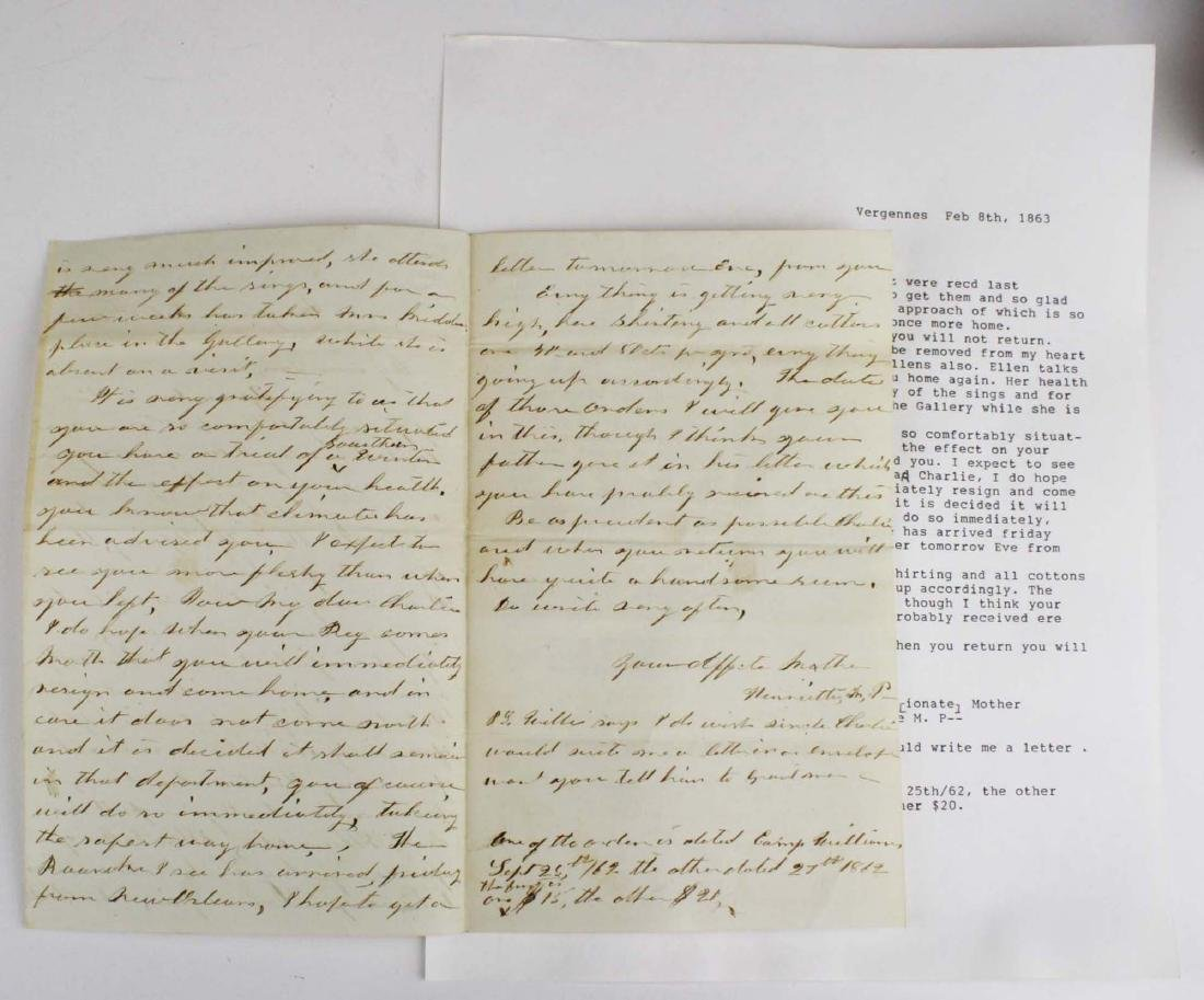 Lot of letters to Charles E Parker of Vergennes with - 9