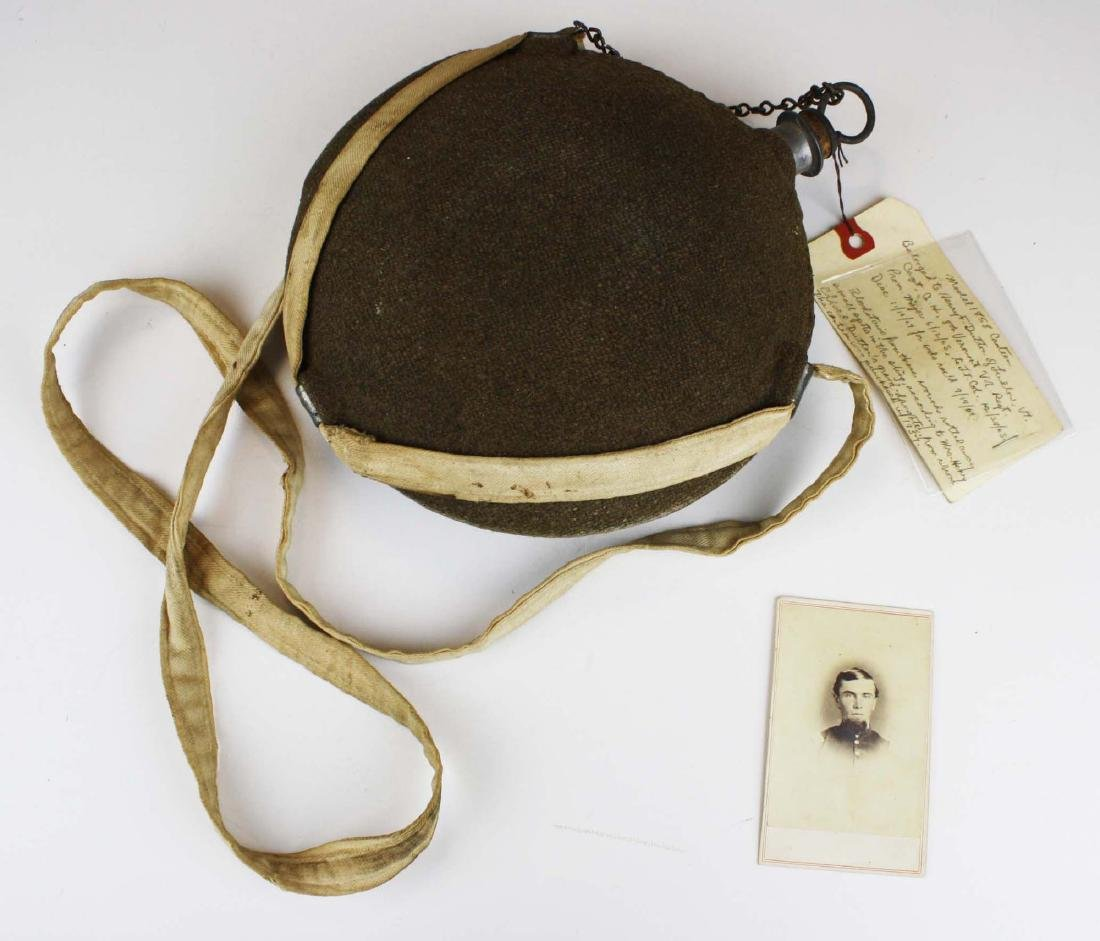 US Model 1858 canteen with traces of blood on strap 8th