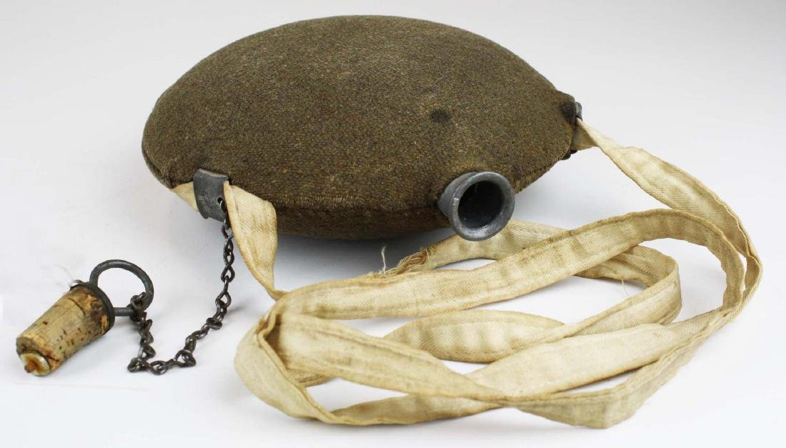 US Model 1858 canteen with traces of blood on strap 8th - 5