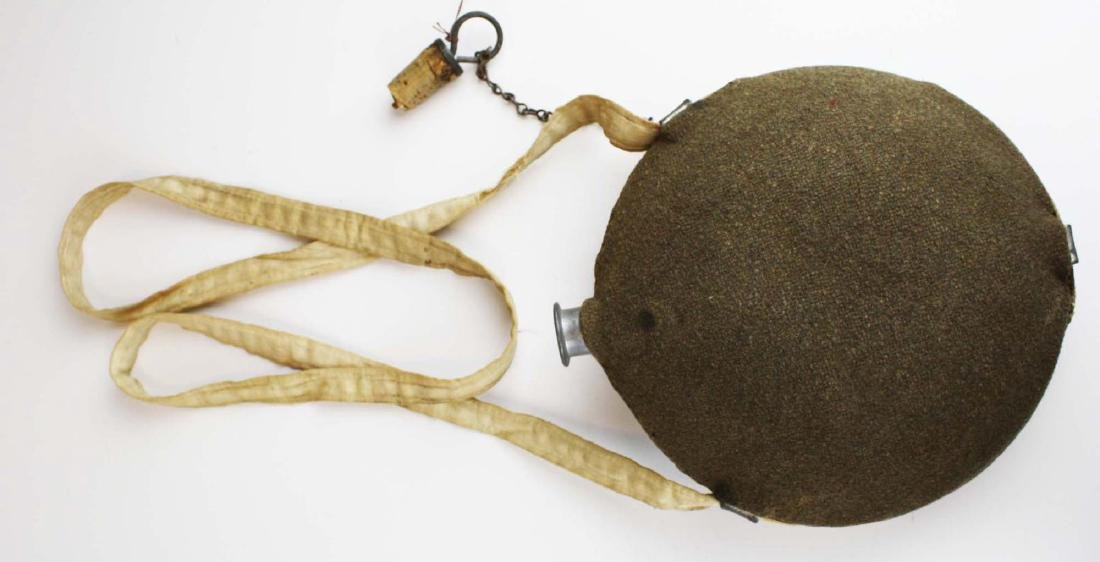 US Model 1858 canteen with traces of blood on strap 8th - 6