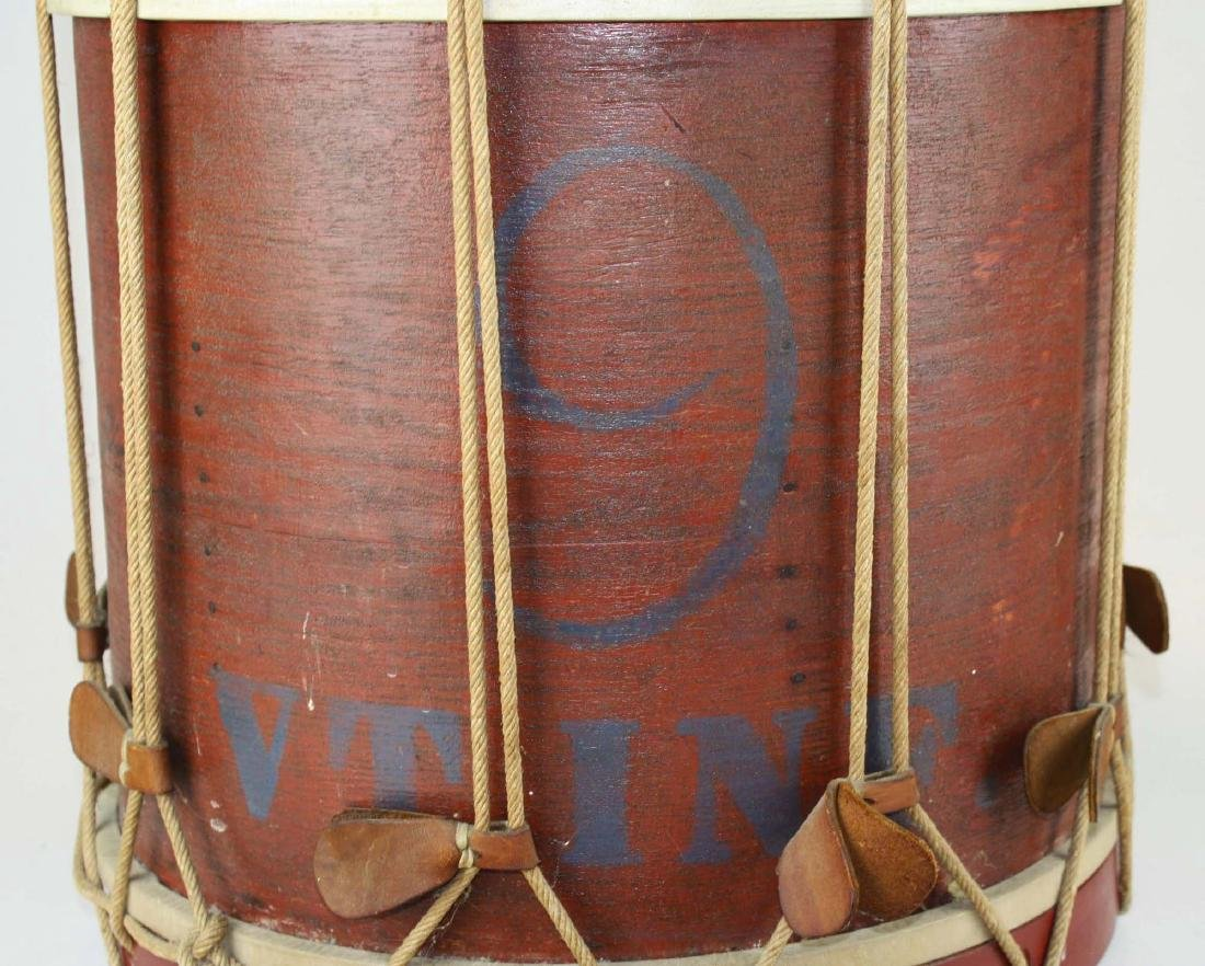 Marked 9th Vermont Company grade Infantry Drum, - 5