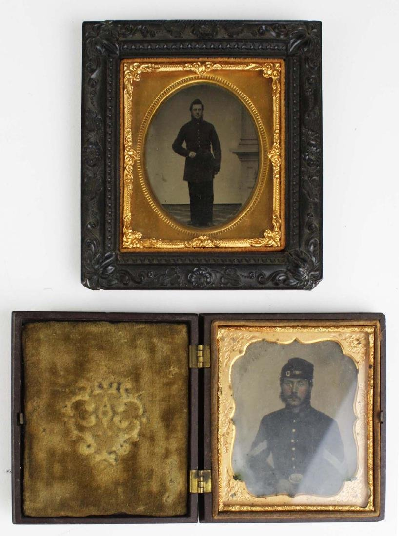 Two Tintypes of VT 9th infantry soldiers