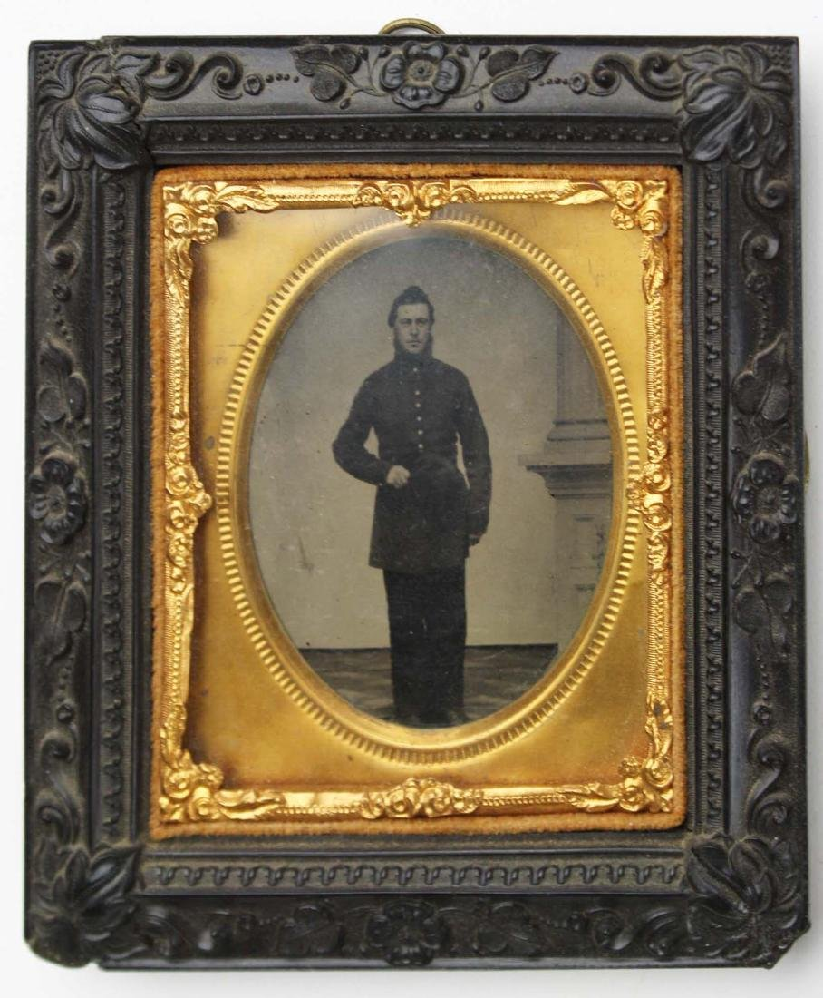 Two Tintypes of VT 9th infantry soldiers - 2
