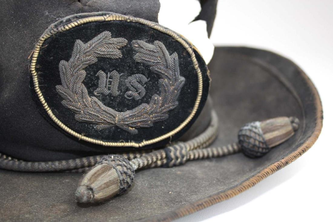 US Officers Slouch Hat with fatal wound - 5