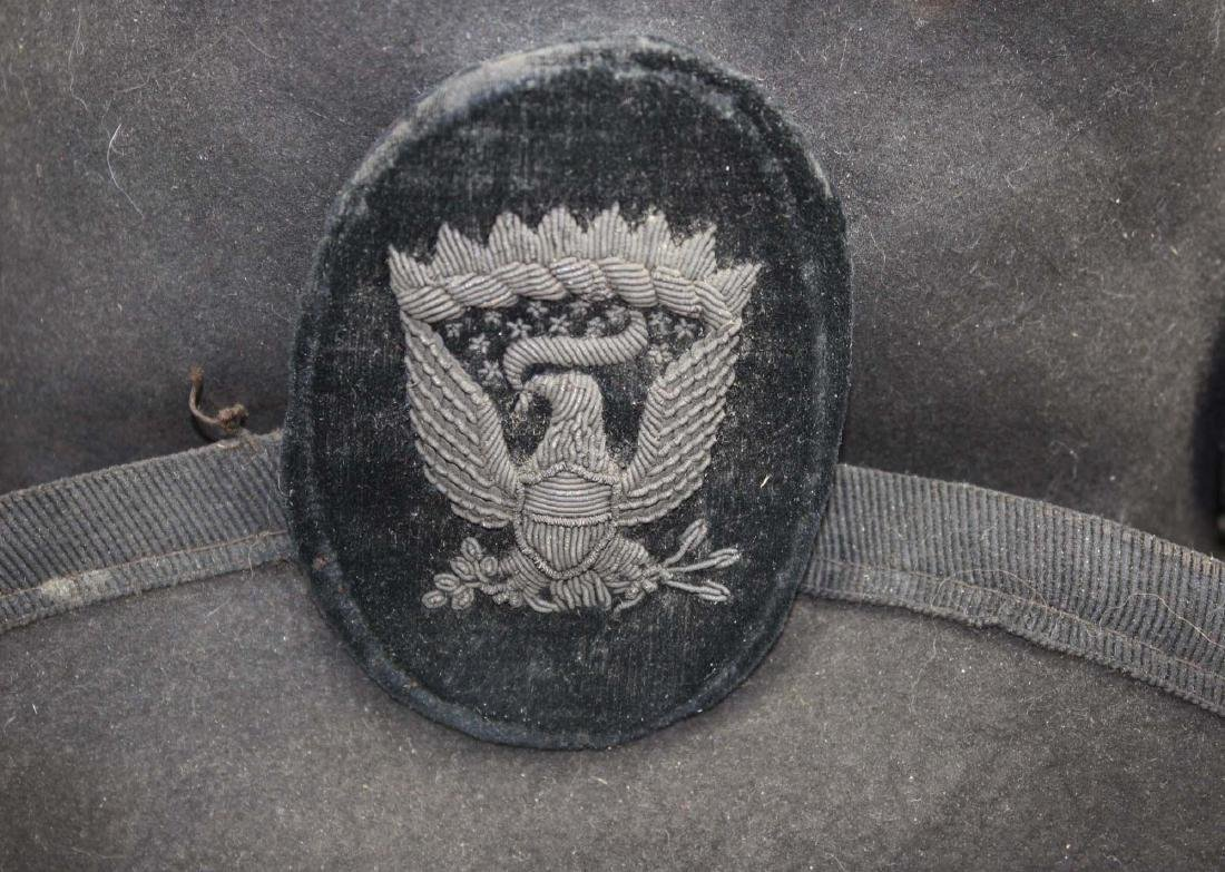 US Officers Slouch Hat with fatal wound - 6