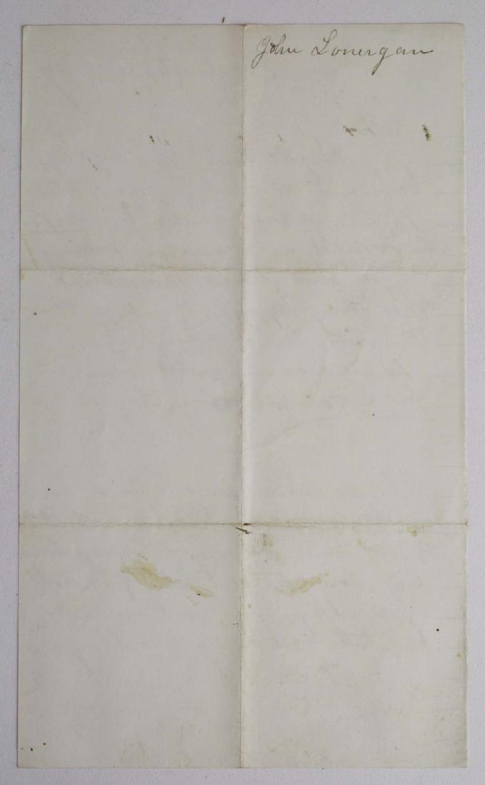 Note from Capt. John Lonergan to Col. Wm Munson - 2