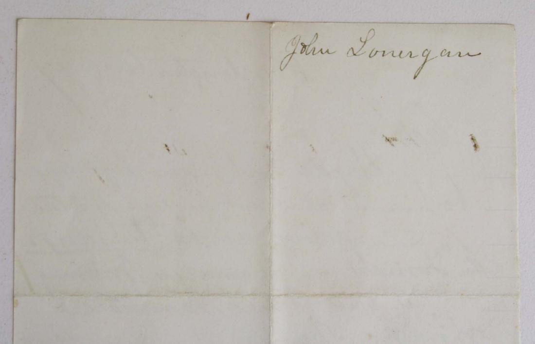 Note from Capt. John Lonergan to Col. Wm Munson - 3