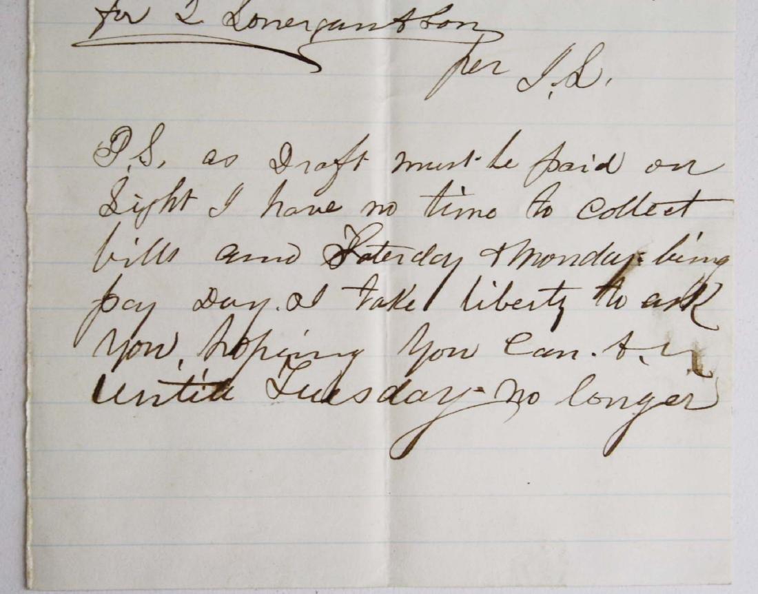 Note from Capt. John Lonergan to Col. Wm Munson - 4