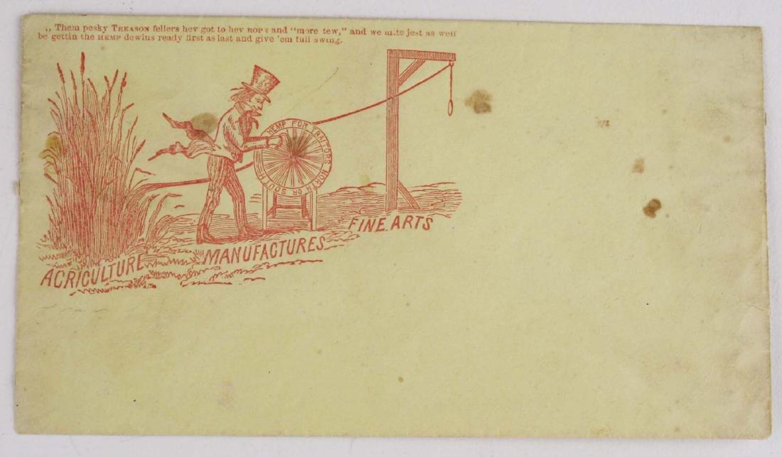 Four US Civil War postal covers including 2 Vermont - 2