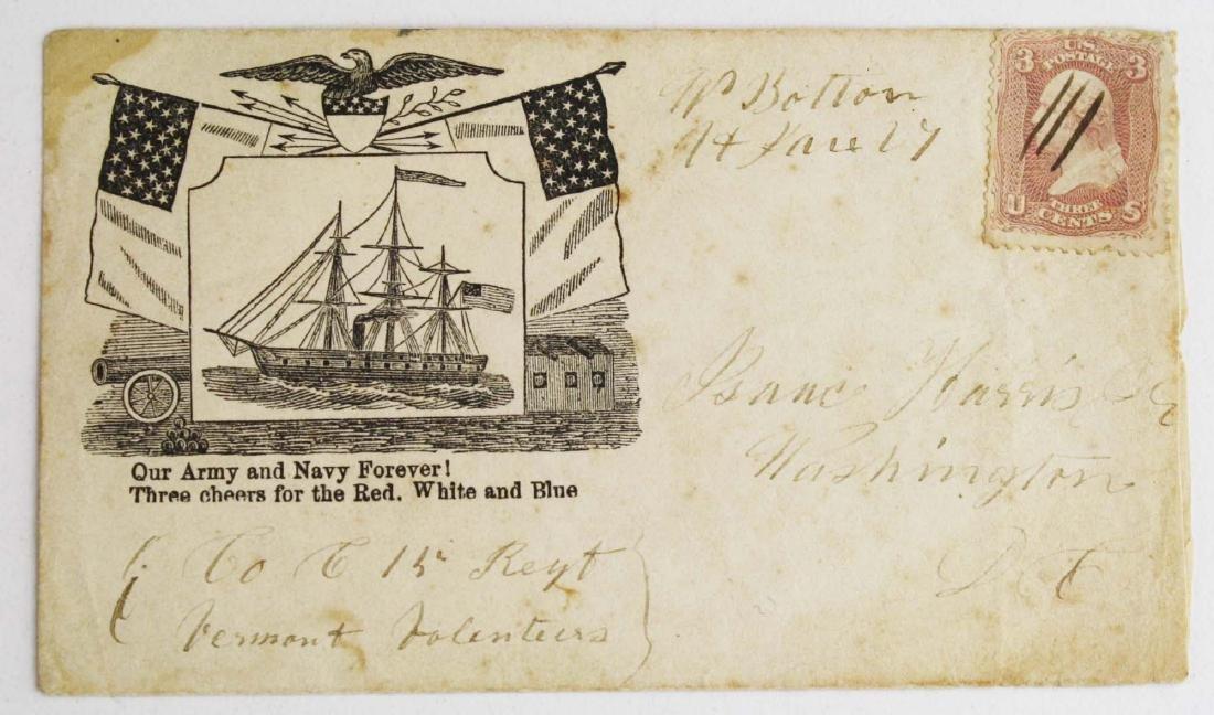Four US Civil War postal covers including 2 Vermont - 3