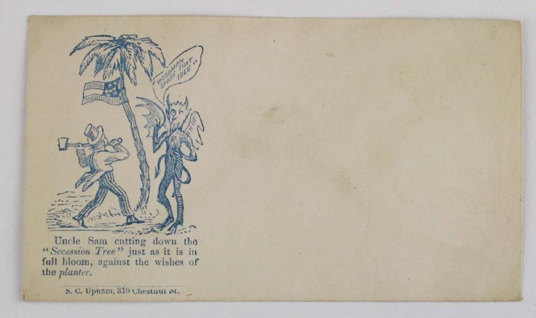 Four US Civil War postal covers including 2 Vermont - 4