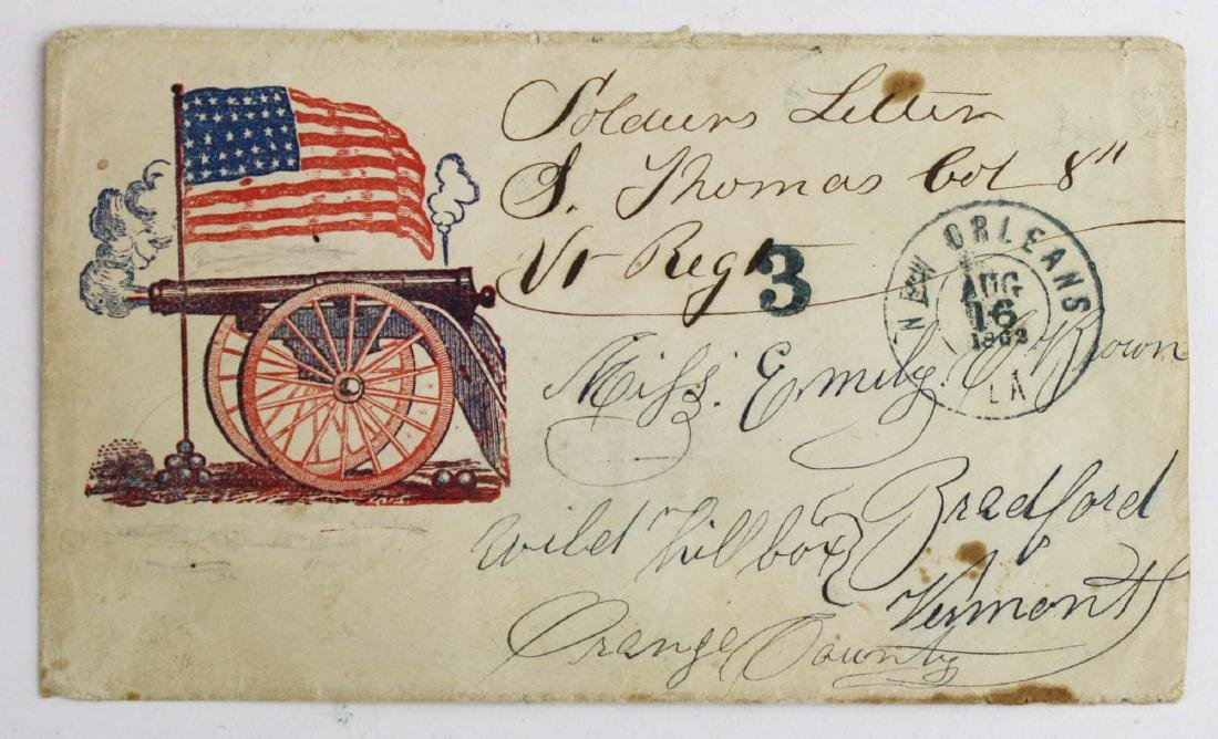 Four US Civil War postal covers including 2 Vermont - 5