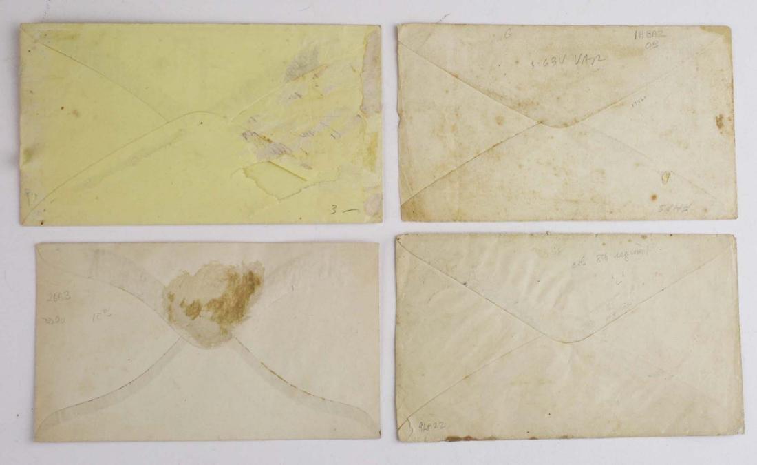 Four US Civil War postal covers including 2 Vermont - 6