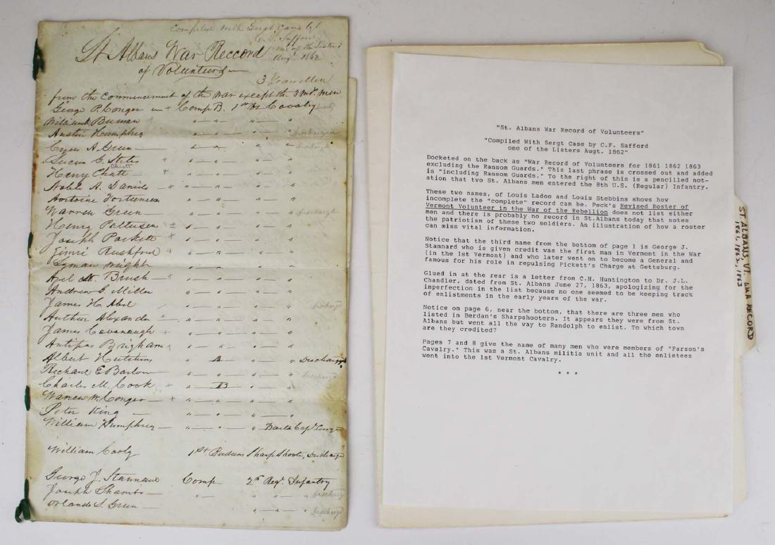 VT Civil War Record of Volunteers - 2
