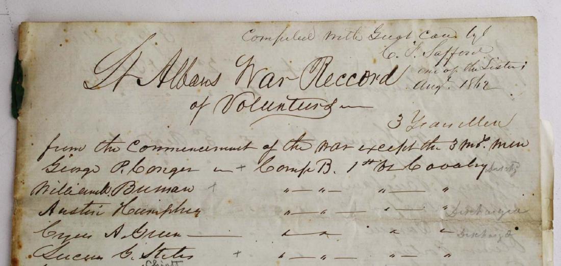 VT Civil War Record of Volunteers - 8