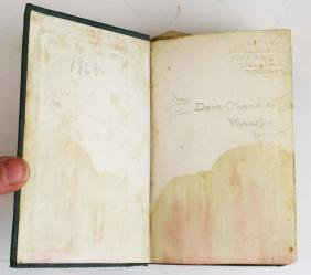 1863 VT Civil War soldier's book