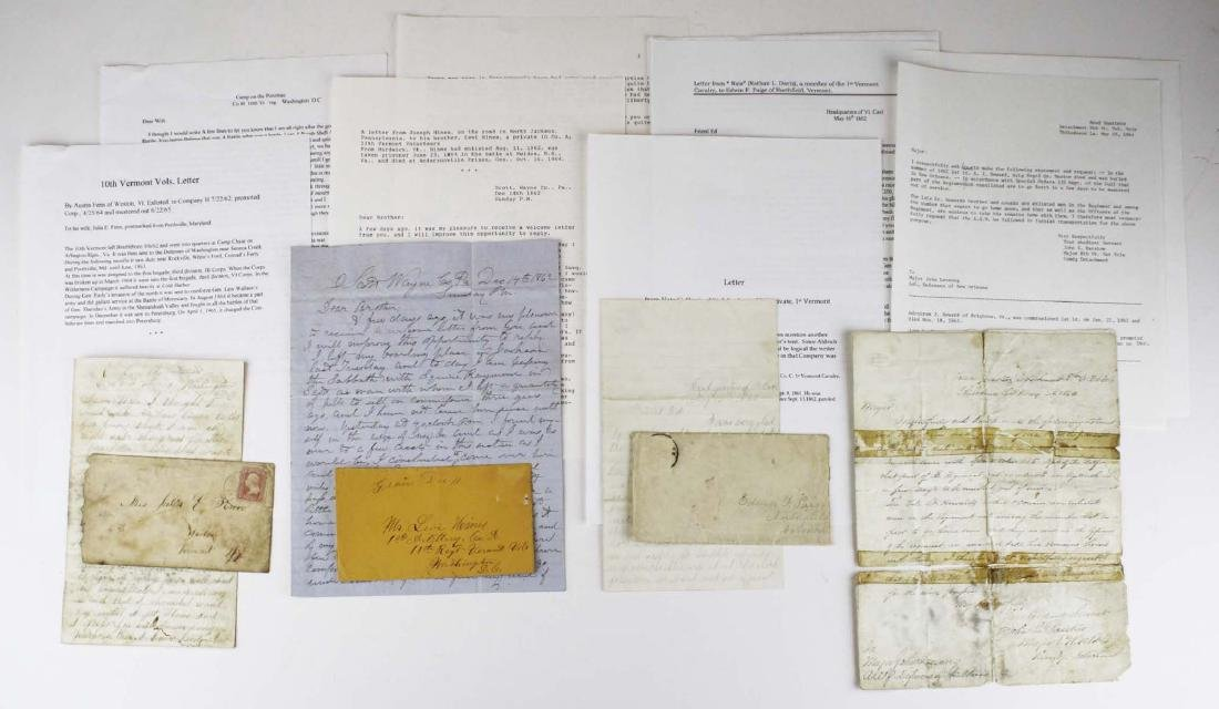 4 VT Civil War soldier's letters