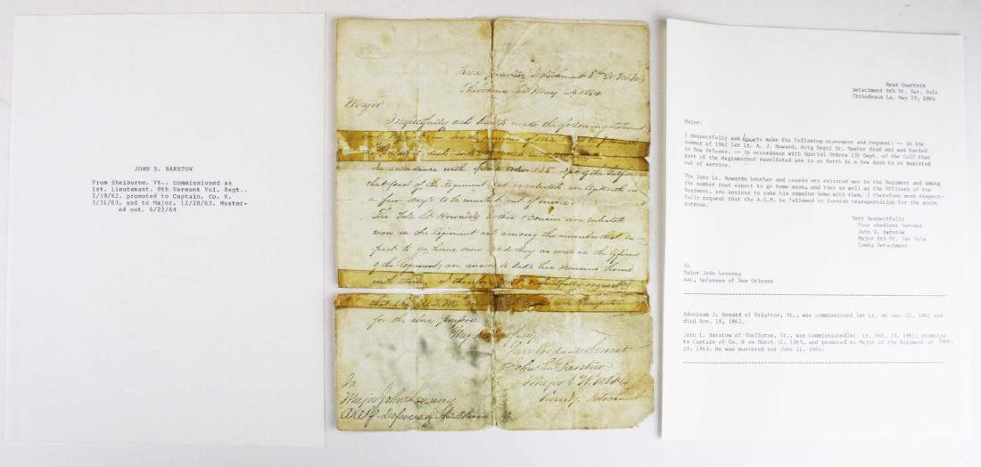 4 VT Civil War soldier's letters - 2