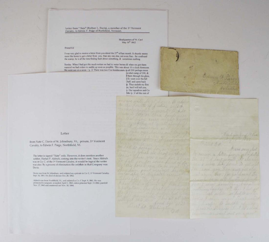 4 VT Civil War soldier's letters - 4
