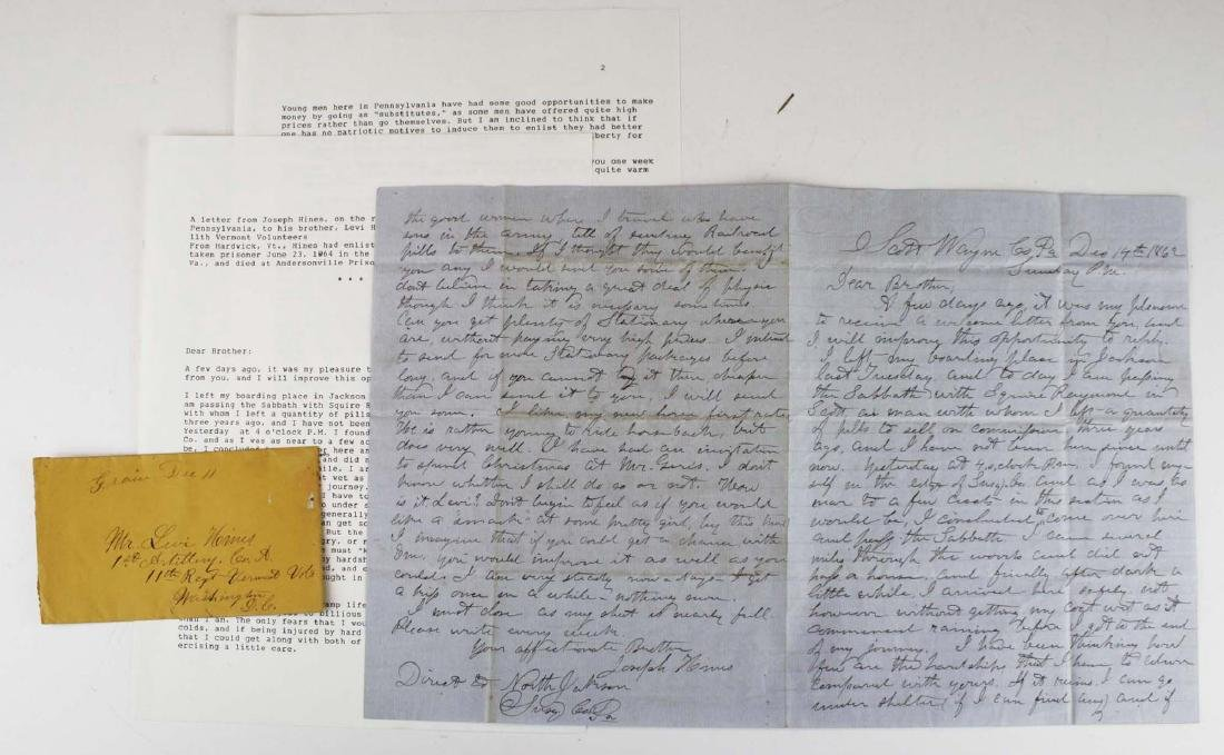 4 VT Civil War soldier's letters - 6