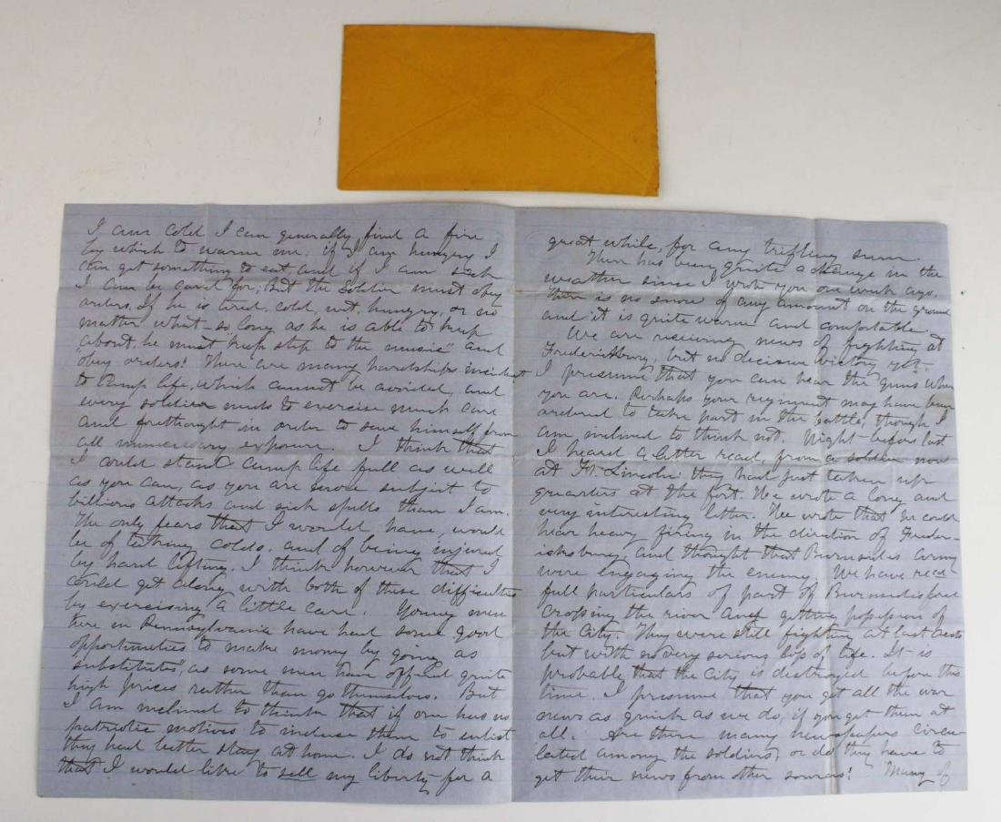 4 VT Civil War soldier's letters - 7