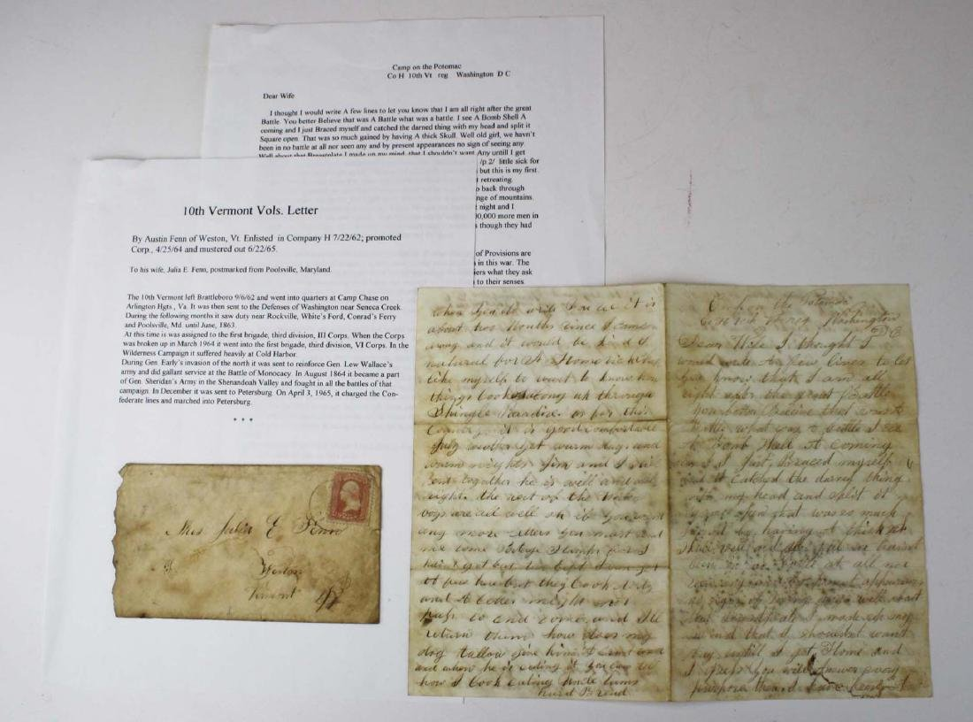 4 VT Civil War soldier's letters - 8