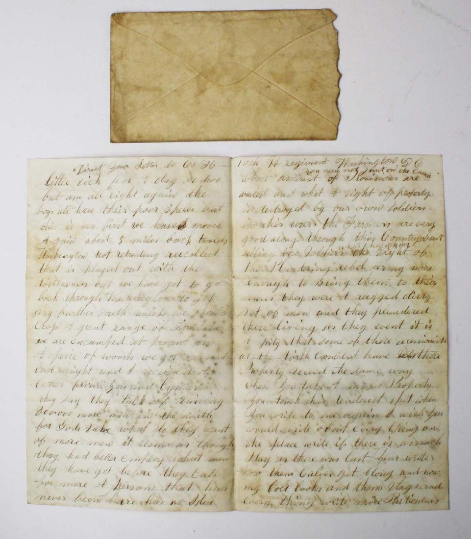 4 VT Civil War soldier's letters - 9