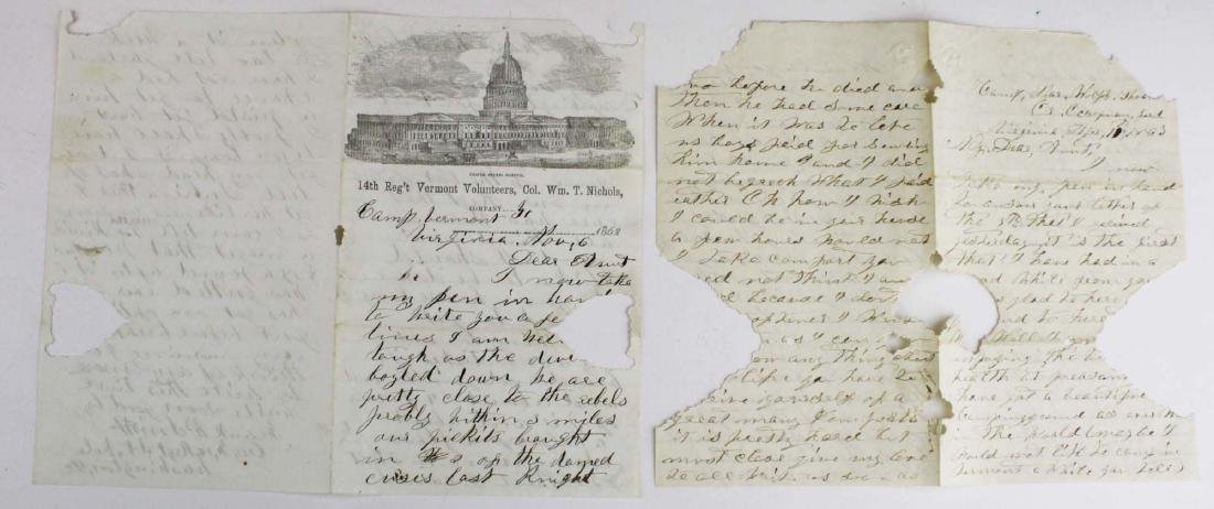 10 VT Civil War soldier's letters - 10