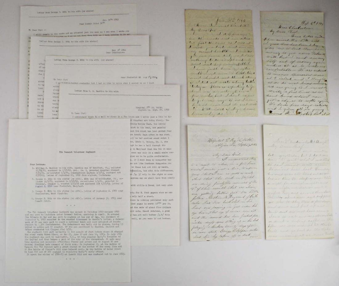 10 VT Civil War soldier's letters