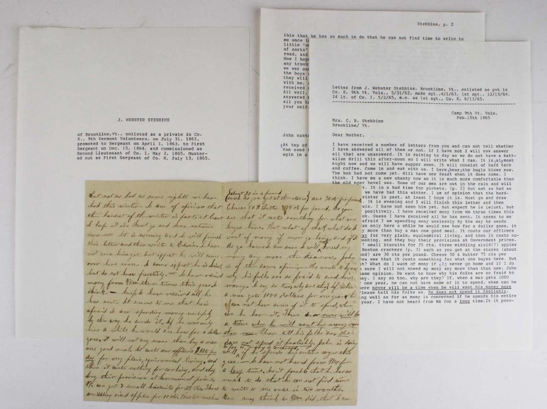10 VT Civil War soldier's letters - 3