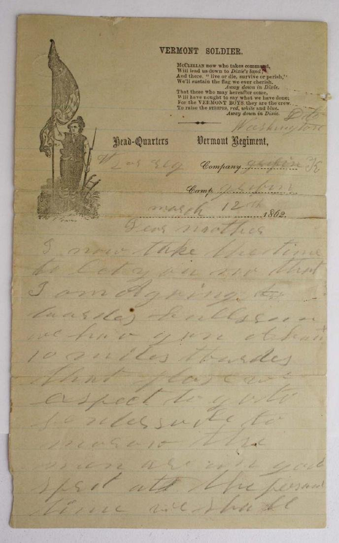 10 VT Civil War soldier's letters - 5