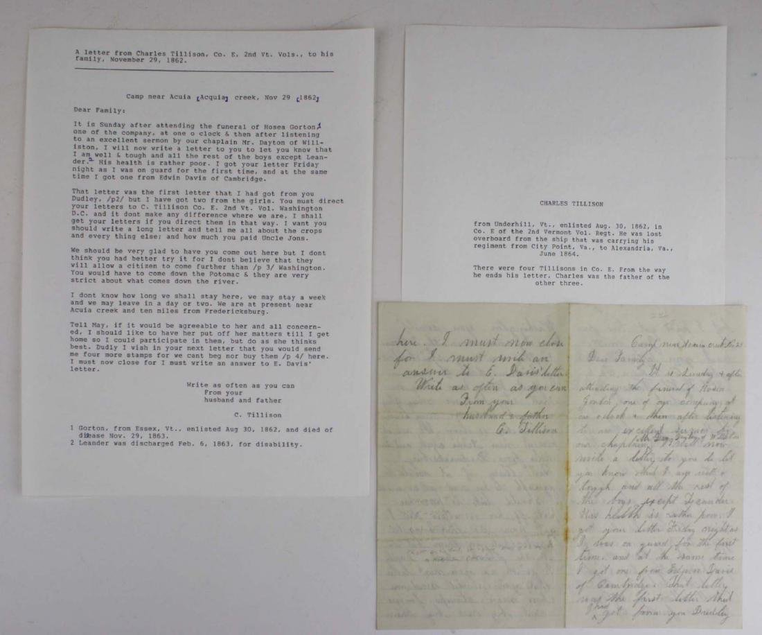 10 VT Civil War soldier's letters - 6