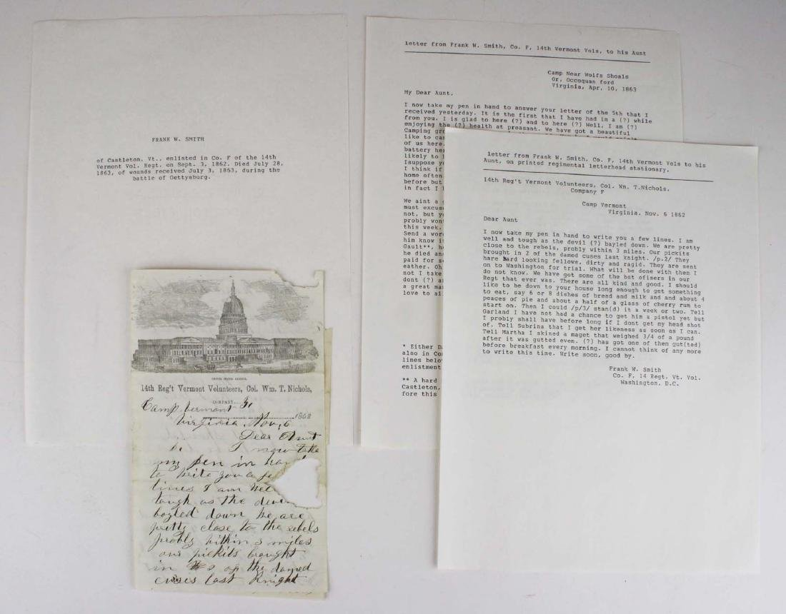 10 VT Civil War soldier's letters - 8