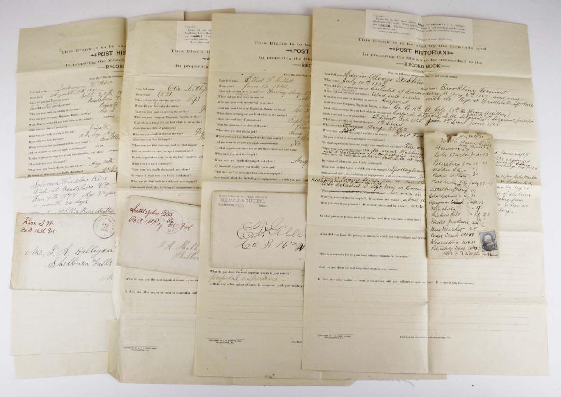 4 VT post Civil War GAR Post records
