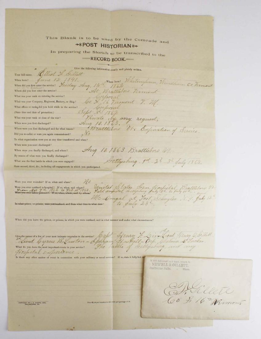 4 VT post Civil War GAR Post records - 3