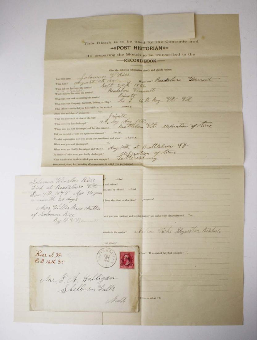 4 VT post Civil War GAR Post records - 5