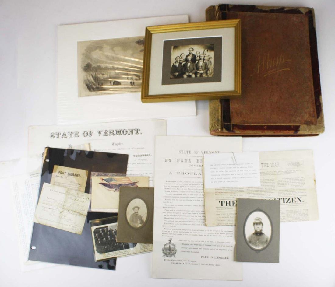 VT Civil War paper & ephemera