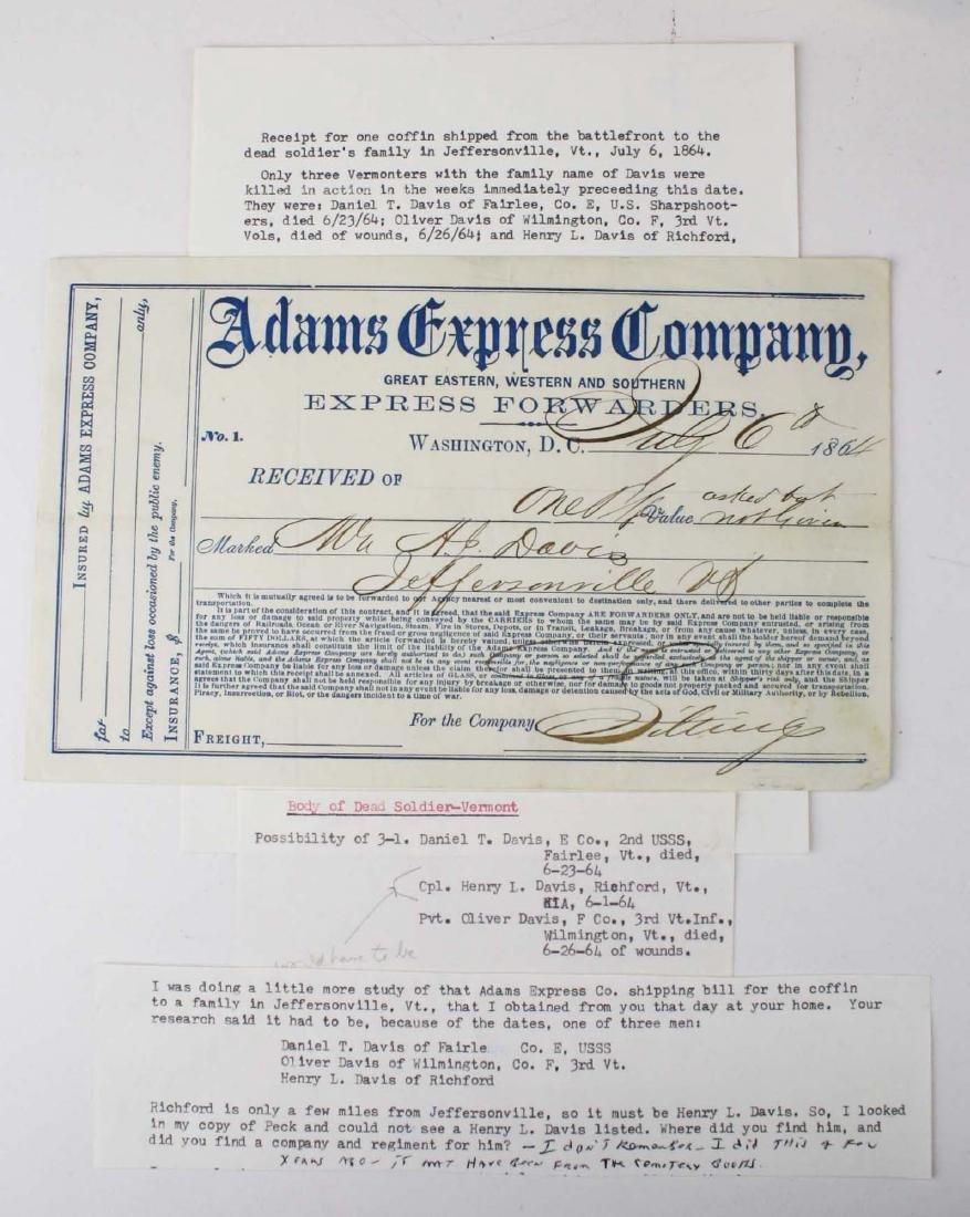 VT Civil War paper & ephemera - 4