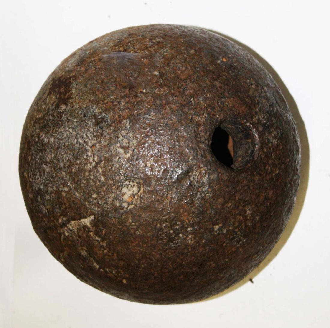 19th c cast iron mortar shell