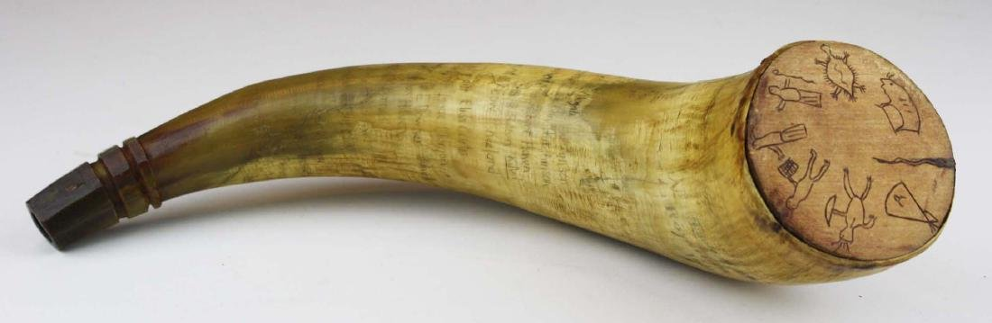 VT powder horn w/ route of Royalton Raid