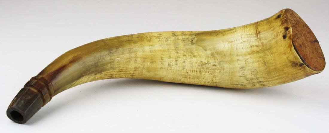VT powder horn w/ route of Royalton Raid - 2