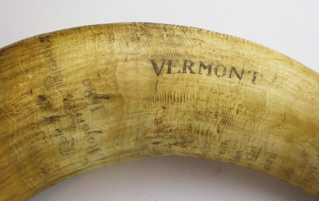 VT powder horn w/ route of Royalton Raid - 6