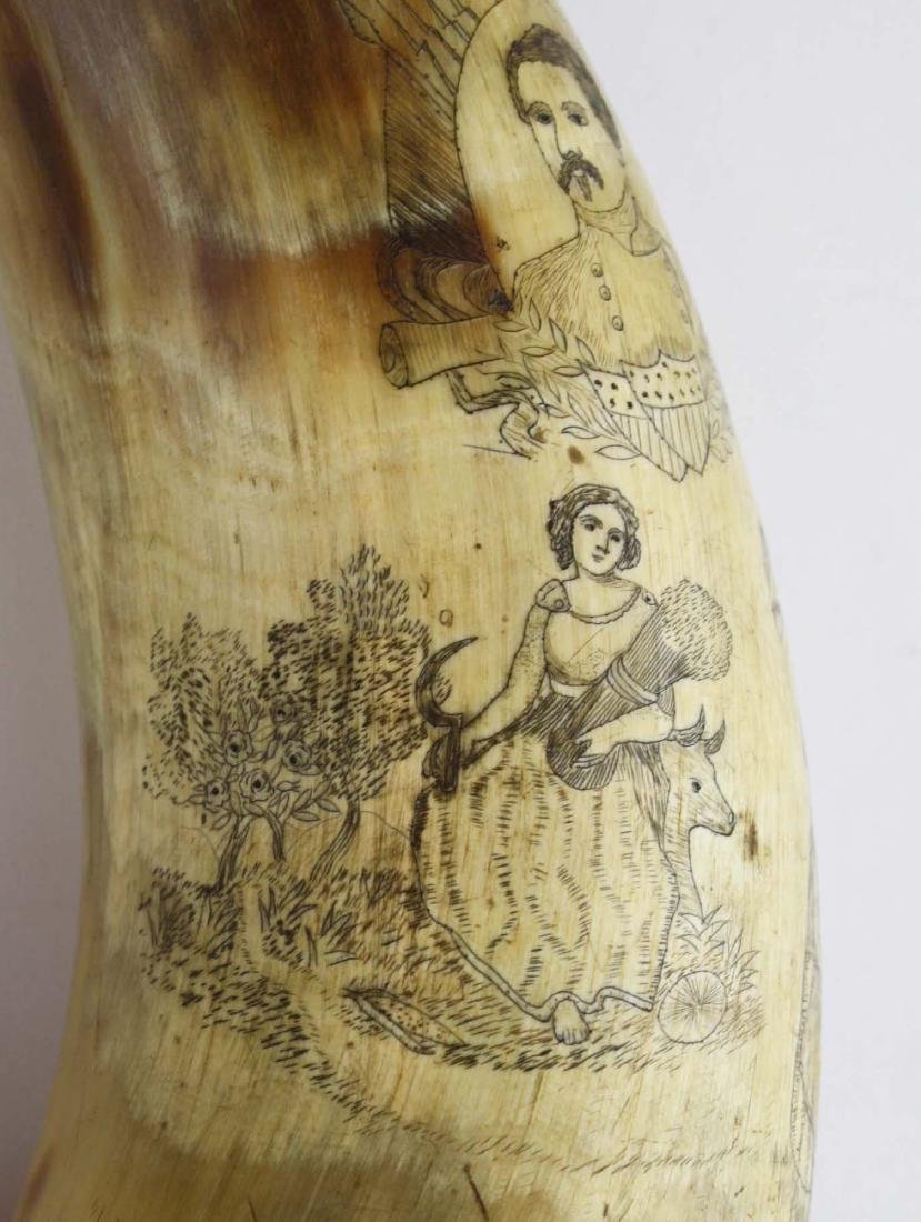 1850's era decorated powder horn - 10