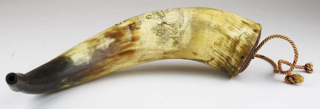 1850's era decorated powder horn