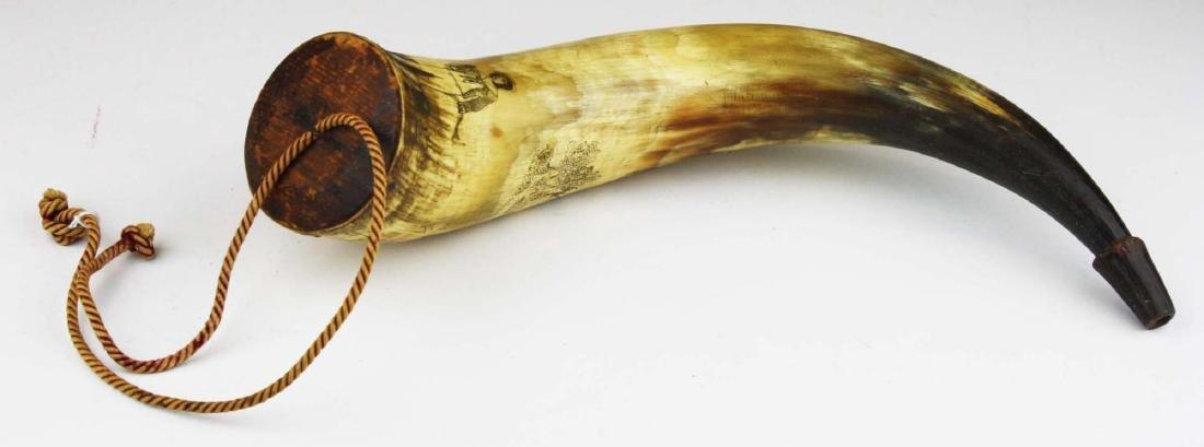 1850's era decorated powder horn - 2