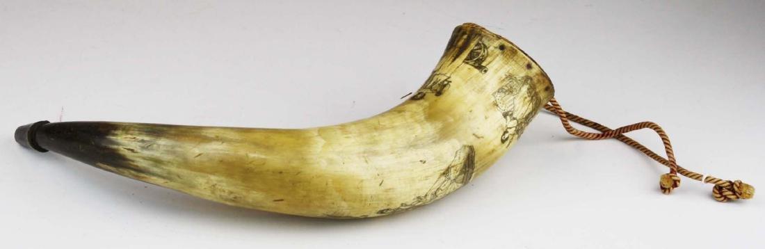 1850's era decorated powder horn - 3