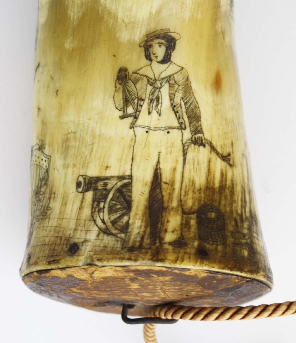 1850's era decorated powder horn - 6